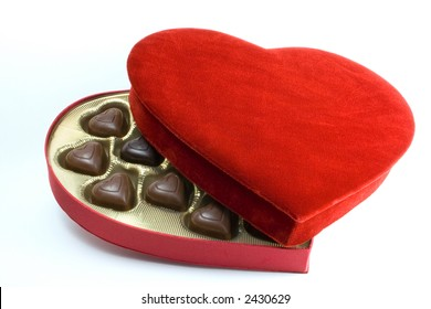 Heart box with chocolates
