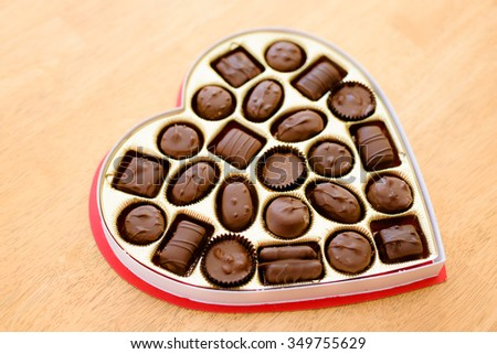 Heart Box Chocolates Valentines Day Backgrounds Stock Photo Edit
