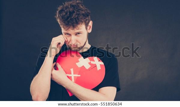Photo De Stock De Concept Brisé Du Coeur Un Triste
