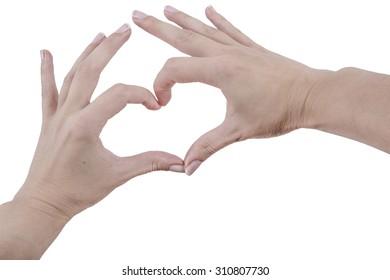 heart by fingers