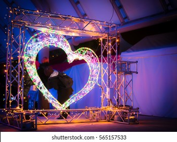 Heart with Christmas lights - Friendship