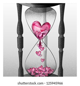 Heart clock fall in love