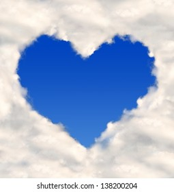 heart from clouds
