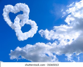 heart and clouds and sky