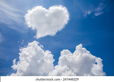 Heart clouds the symbol of love.