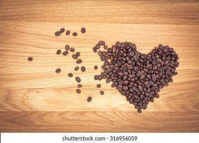 heart coffee and love