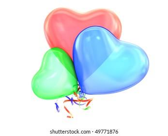 Heart color balloon