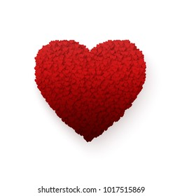Heart. Colorful Heart frame. Romance Valentines day illustration isolated on white background