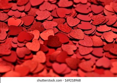 heart confetti /glitter background