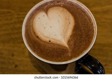heart in a cup of mocha