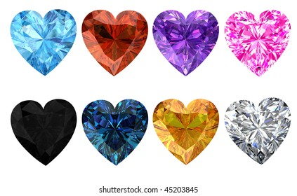 Heart diamonds set