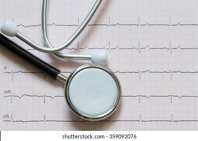 Heart disease abstract sign symbol with cardiogram