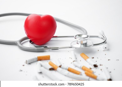 Heart disease is caused by smoking.