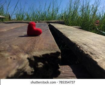 Heart felt in valentine day vintage background