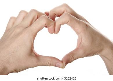 heart of fingers