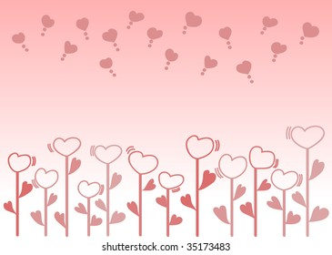 Heart Flowers in your mind