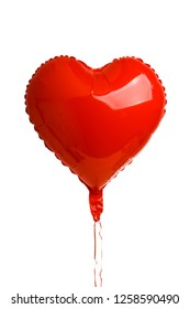 heart foil balloons isolated on white background