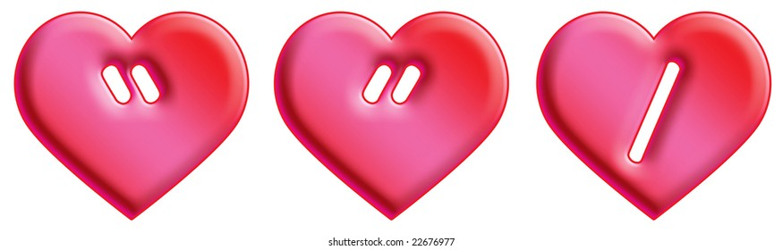 Heart Font - punctuation