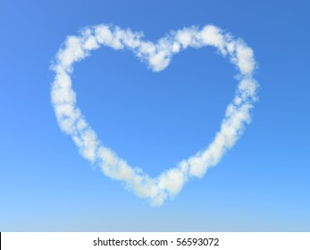 Heart formed from Clouds