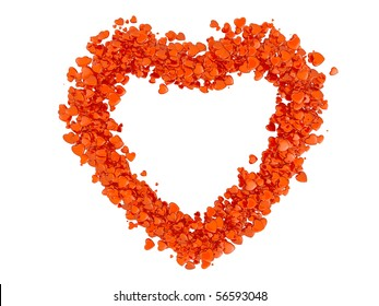 Heart formed from small hearts