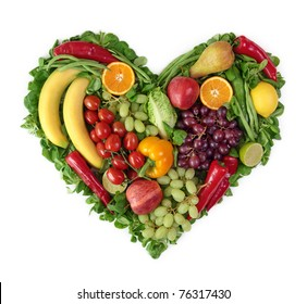 Heart of fruits and vegetables