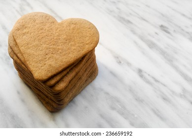 Heart gingerbread cookies