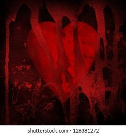 Heart grunge background.