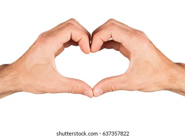 Heart from hand isolated on white background