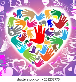 Heart Hands Meaning Valentine's Day And Handprint