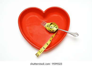 Heart Health concept - healthy eating and weight loss.