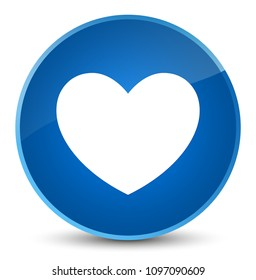Heart icon isolated on elegant blue round button abstract illustration