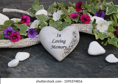 Heart with the inscription in Loving Memory