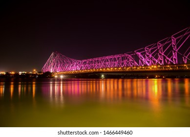 The heart of Kolkata. Howrah bridge is the most popular bridge.