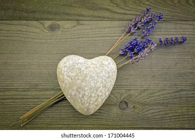 heart for love, with lavender flower, valentines day background