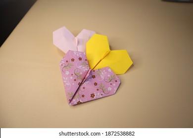 Heart Love Paper Origami Cute
