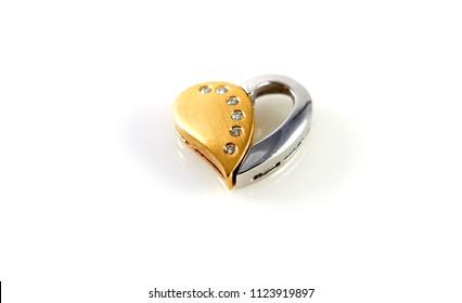 heart love sweetheart gold brilliant