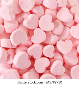 Heart Marshmallows Background