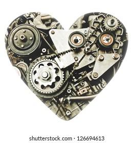Heart mechanics. Engine in the heart.