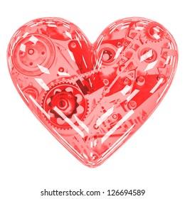 Heart mechanics. Engine in the heart. Negative.