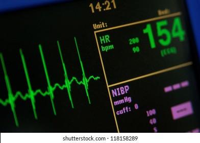 Heart monitor measuring vital signs