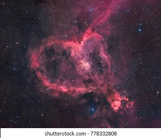 The Heart Nebula in the Constellation of Cassiopeia