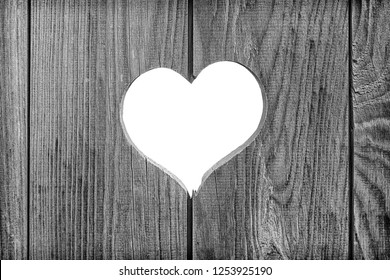 heart on a background of wooden boards