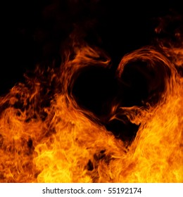 Heart on flame.