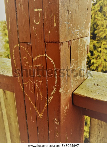 heart on a post