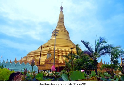 ''Heart on the top of Hill'' The Global Vipassana Pagoda is a Meditation Hall near Gorai, Mumbai India