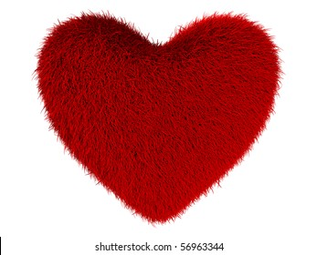 heart on white background. Isolated 3D image