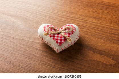 Heart on a wooden texture for Valentine's Day