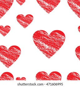 A heart. pattern of hearts. print fabric.