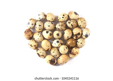 Heart of quail eggs