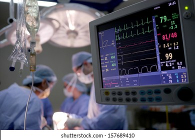 heart rate monitor in hospital theater